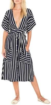 Faithfull The Brand Milan Stripe Midi Dress