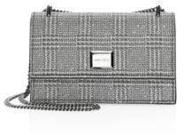 Jimmy Choo Mini Leni Embellished Plaid Shoulder Bag
