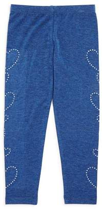 Design History Girls' Embellished-Heart Leggings - Little Kid