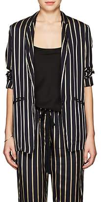 Giada Forte Women's Striped Twill One-Button Blazer