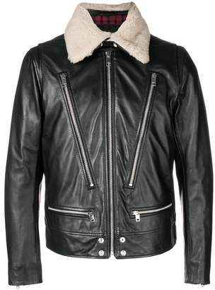 Diesel shearling biker jacket