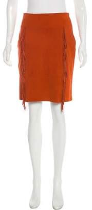 Tamara Mellon Suede Knee-Length Skirt