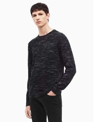 Calvin Klein regular fit merino wool space-dyed crewneck sweater