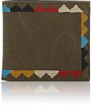 Valentino MEN'S EMBROIDERED CANVAS BILLFOLD