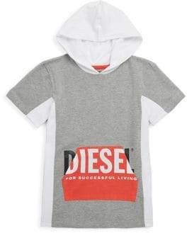 Diesel Boy's Short-Sleeve Cotton Logo Hoodie