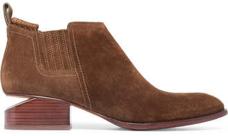 Alexander Wang Kori Cutout Suede Ankle Boots - Brown