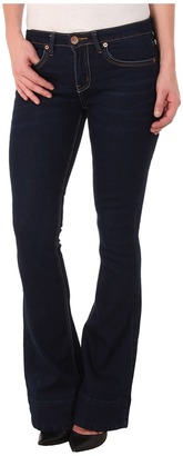 dollhouse Beckham Five-Pocket Flare Jeans in Dark Blue Wash $54 thestylecure.com