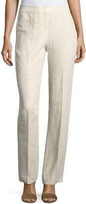 Lafayette 148 New York Barrow Herringbone Linen Pants