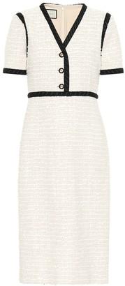 Gucci Cotton tweed midi dress