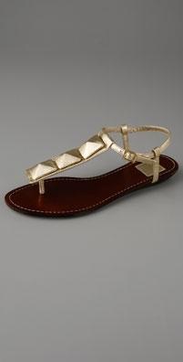 Dolce Vita Metallic Poppy T Strap Thong Sandal