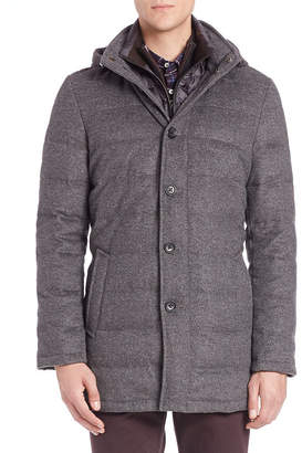 Saks Fifth Avenue Wool & Cashmere Quilted Jacket