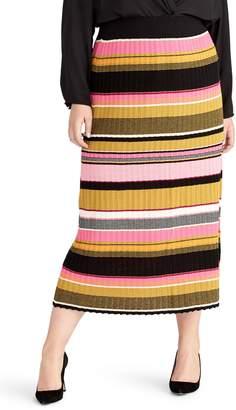 Rachel Roy Kennedy Stripe Midi Skirt