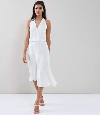 Reiss Talin Strappy Back Midi Dress