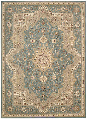 "Kathy Ireland Home Antiquities Imperial Garden Slate Blue 3'9"" x 5'9"" Area Rug"