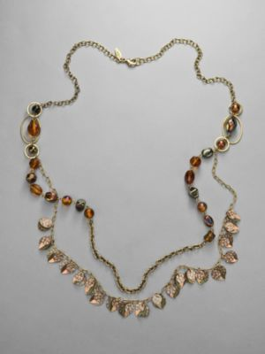 City Style Bead and Disc Necklace