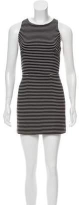 Porter Grey Striped Mini Dress