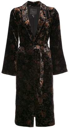 Paige shawl lapel midi coat