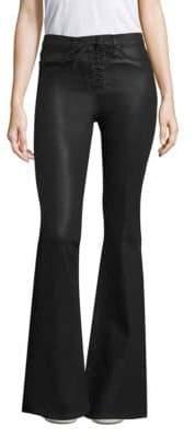 Hudson Bullocks Lace-Up Flare Jeans