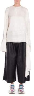 Stella McCartney Silk Stripe Side-Tie Blouse