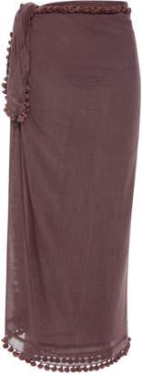 Matta Dupatta Tasseled Cotton And Silk Shawl