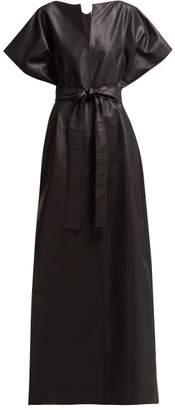 Givenchy Kimono Silk Blend Faille Gown - Womens - Black