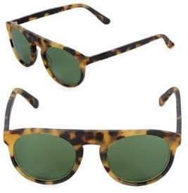 Westward Leaning Atlas Tortoise Shell Browline Sunglasses