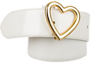 Moschino Moschino Leather Heart-Embellished Belt