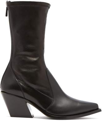 Givenchy Slant-heel leather boots