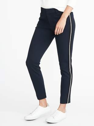 Old Navy Mid-Rise Ponte-Knit Side-Stripe Pixie Ankle Pants for Women