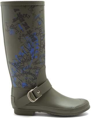 Burberry Graffiti-print rain boots
