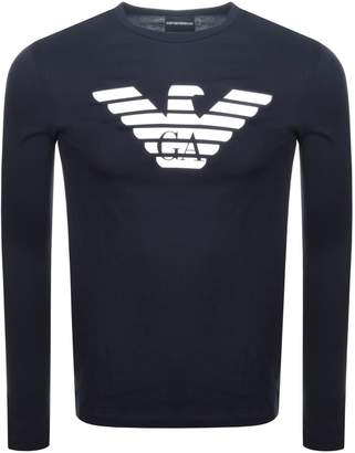 Giorgio Armani Emporio Crew Neck Logo T Shirt Navy