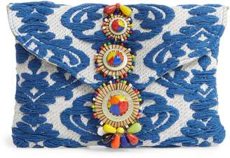 Steve Madden Beaded & Embroidered Clutch