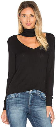 LNA Detached Turtleneck Top in Black $110 thestylecure.com