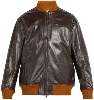 NEEDLES Faux-leather bomber jacket