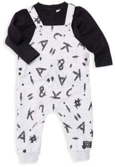 story. Baby Boy's Two-Piece Alphabet Tee & Overall