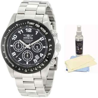 Invicta 10701 Men's Speedway Stainless Steel Black Dial Chronograph Dive Watch with Ultimate Watch Care Kit