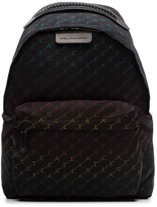 c1ce1d638f Stella McCartney black Falabella rainbow logo backpack