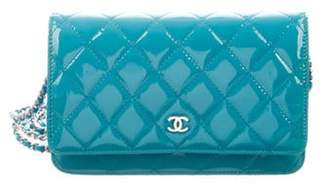 Chanel Patent Wallet On Chain Turquoise Patent Wallet On Chain