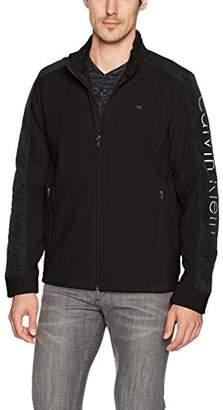 Calvin Klein Men's Long Sleeve Nylon Mixed Media Full Zip Polar Fleece