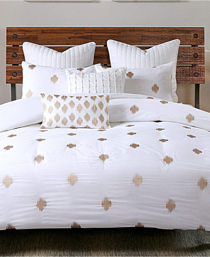 Ink+ivy Ink+Ivy Stella Cotton Percale 3-Pc. Embroidered-Dot King Duvet Cover Mini Set Bedding