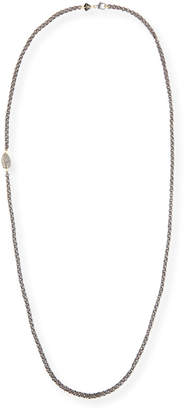 Grazia And Marica Vozza Double Link Chain Necklace with Nugget