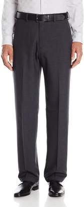Haggar Men's Cool 18 Stria Hidden Expandable Waistband Plain Front Pant