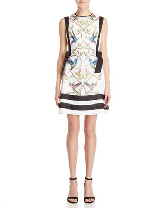 Ted Baker Printed Bow A-Line Dress