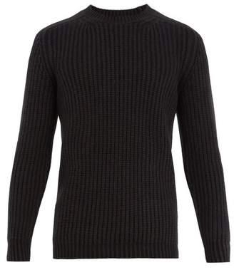 Iris von Arnim Crew-neck garter-knit cashmere sweater