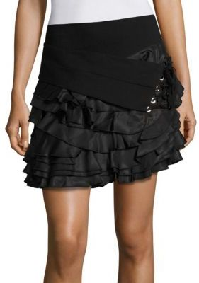 The Kooples Ruffle Tie Skirt $310 thestylecure.com