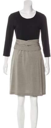 DKNY Long Sleeve A-Line Dress
