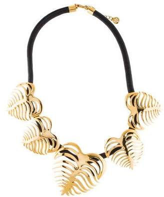 Tory Burch Heart Of Palm Wreath Necklace