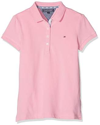 Tommy Hilfiger Girl's Fitted Polo S/S Jumper,(Manufacturer Size: 16)