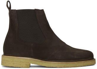 A.P.C. Brown Suede Grisha Boots