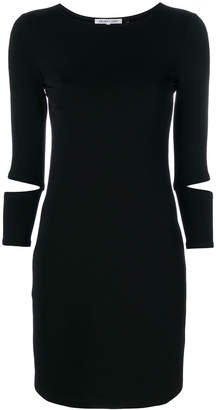 Helmut Lang cut out fitted dress
